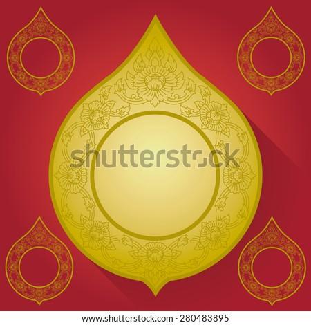 Thai art frame - stock vector