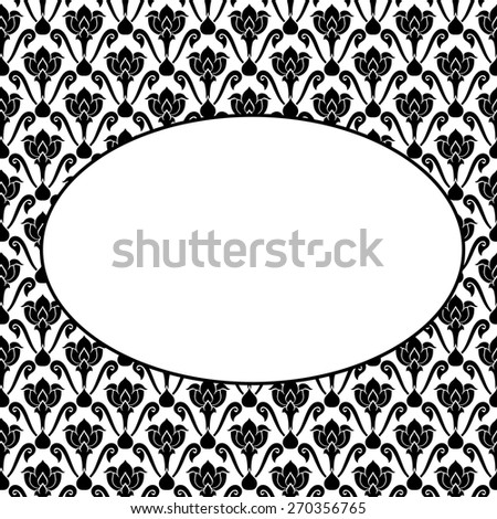 Thai art pattern black and white - stock vector