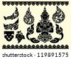 Thai arts and pattern vector - stock photo