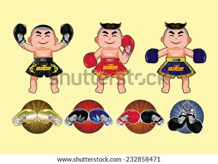 Thai Boxing design,vector illustration - stock vector