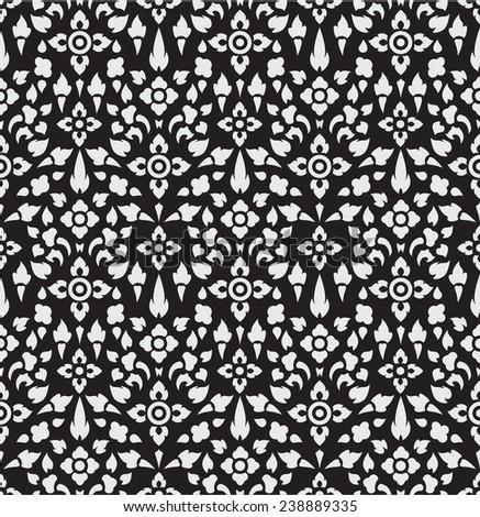 thai pattern wall textures - stock vector