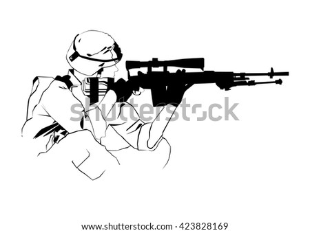 Thai soldier on military white background