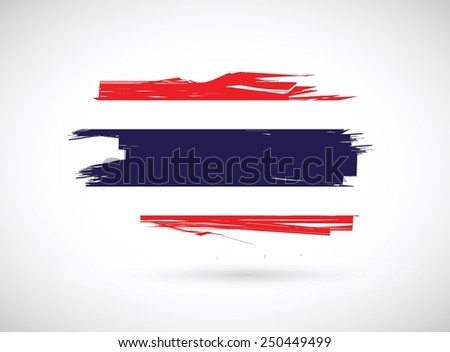 thailand ink flag illustration design over a white background - stock vector
