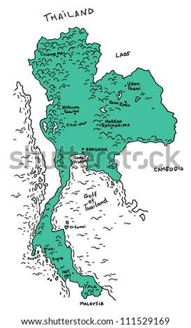 thailand map - stock vector