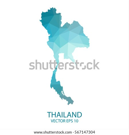 Thailand map blue geometric rumpled triangular vector de thailand map blue geometric rumpled triangular low poly style gradient graphic background polygonal design gumiabroncs Images