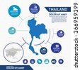 thailand map infographic - stock vector