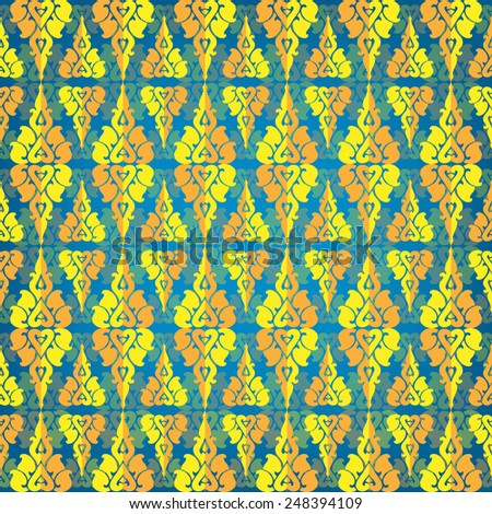 Thailand pattern seamless vector - stock vector