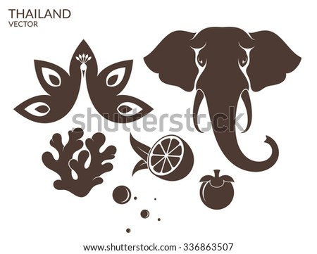 Thailand Symbol Vector Illustration Stock Vector 336863507