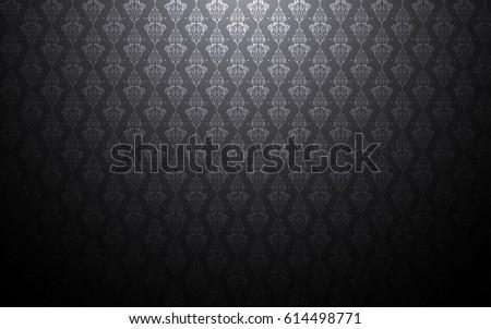 Thailand Thai Black Dark Background Pattern Texture Vintage Wallpaper Design Vector