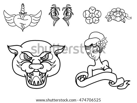 thai tattoo stock photos royalty free images vectors shutterstock. Black Bedroom Furniture Sets. Home Design Ideas