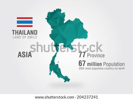 Thailand world map thai map pixel stock vector 204237241 thailand world map thai map with a pixel diamond texture gumiabroncs Images