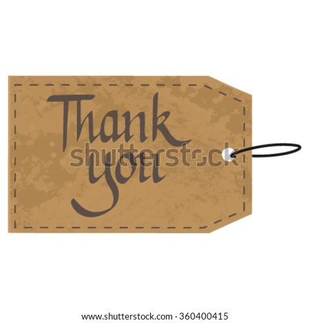 Thank handwritten illustration. Beautiful cards with inscriptions - stock vector
