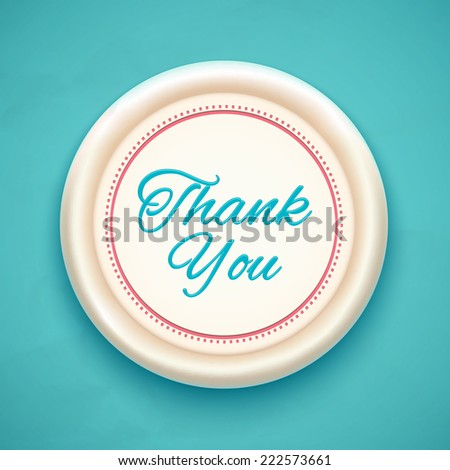Thank you. Badge. Vector illustration - stock vector