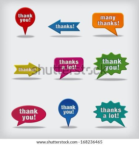 thank you bubbles - stock vector
