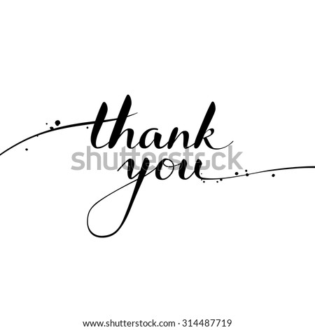 Thank You calligraphy. Brush painted letters. Vector illustration. - stock vector