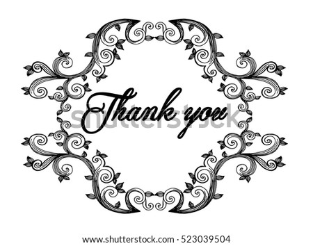 Thank You Card Thanks Vector Isolated Stock Vector HD (Royalty Free ...