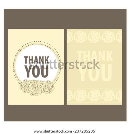 Thank You Card. vector - stock vector
