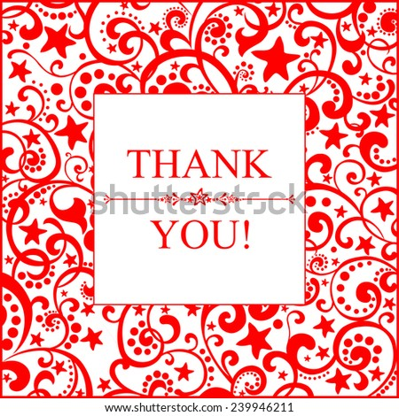 Thank you card. Vector illustration.  - stock vector