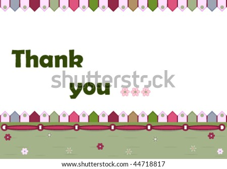 Thank you card - vector illustration, EPS AI8, all elements layered and grouped. Isolated on white for easy editing. - stock vector