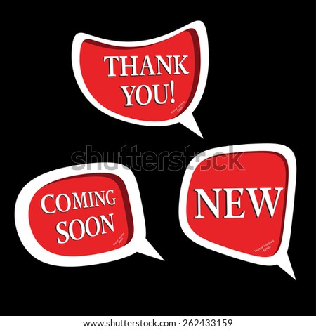 thank you,coming soon,new,banner-vector - stock vector