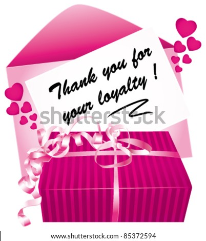 Thank you for your loyalty message. - stock vector