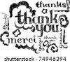 Thank You graphics - stock vector