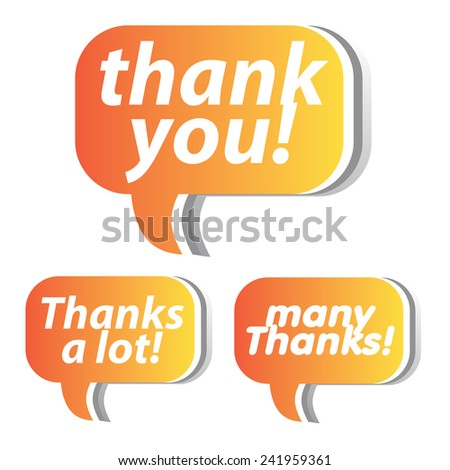 Thank you - grateful bubbles. Vector.  - stock vector
