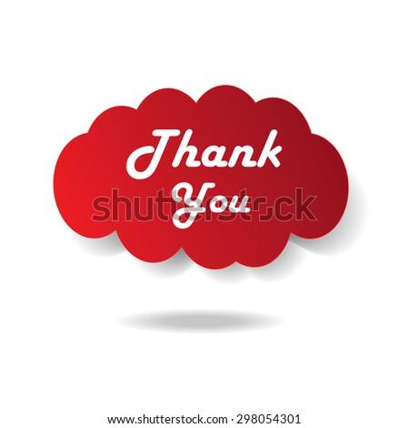 Thank you - grateful bubbles. Vector - stock vector