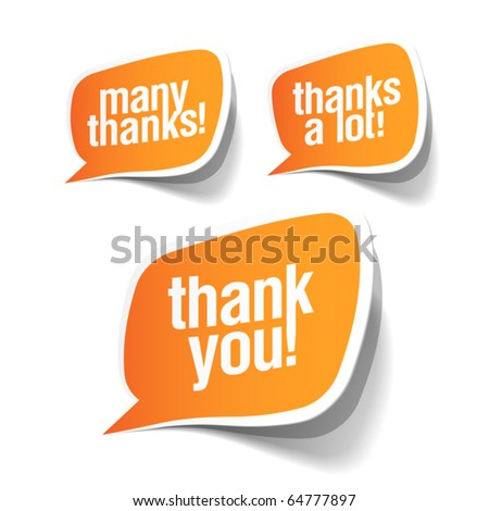 Thank you - grateful bubbles. Vector. - stock vector