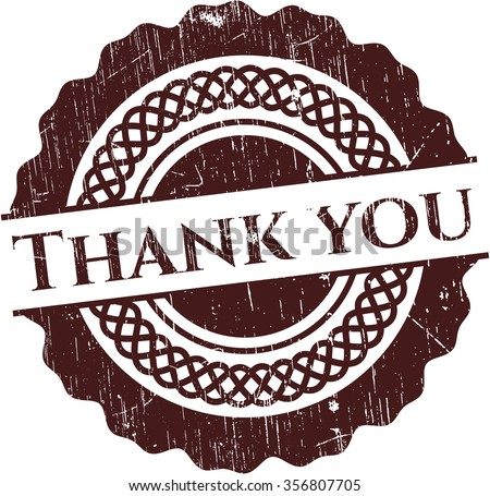 Thank you grunge stamp - stock vector