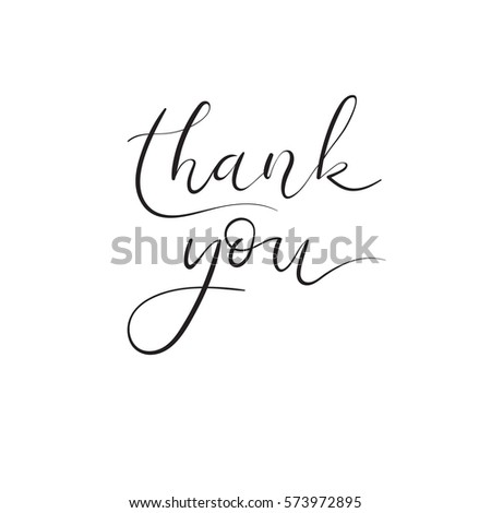Thank you hand lettering inscription thank stock vector Thank you in calligraphy writing