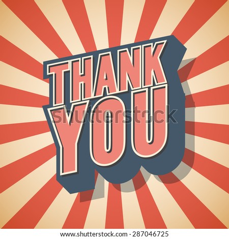 Thank you Retro speech. Vector illustration - stock vector