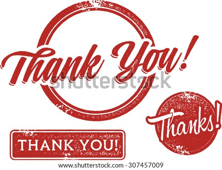 Thank you Rubber Stamps - stock vector