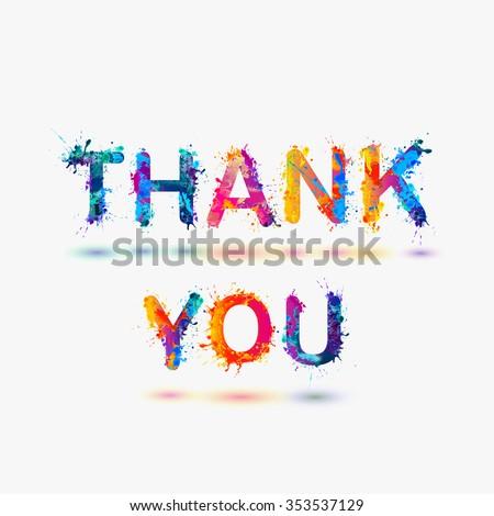 Thank you. Splash paint - stock vector