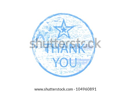 thank you stamp - stock vector
