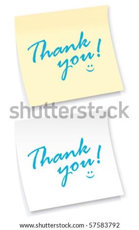 thank you sticker - stock vector