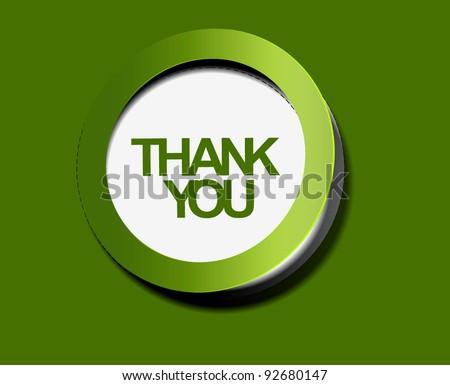 thank you sticker. vector - stock vector