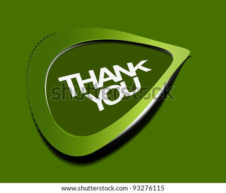 thank you sticker. vector illustration - stock vector