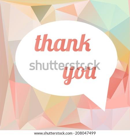 Thank you vector card  - stock vector