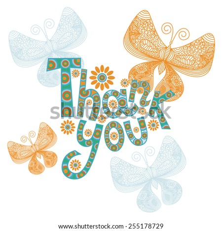 Thank you vector illustration - stock vector