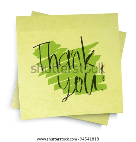 Thank you! Vector illustration, EPS10 - stock vector