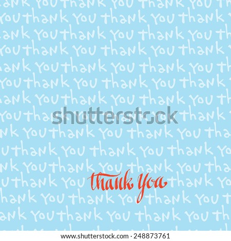 thank you. vector lettering  - stock vector