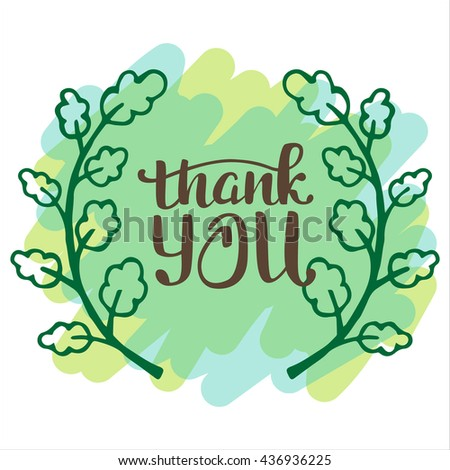 Thank you very much. Hand lettering inscription. - stock vector