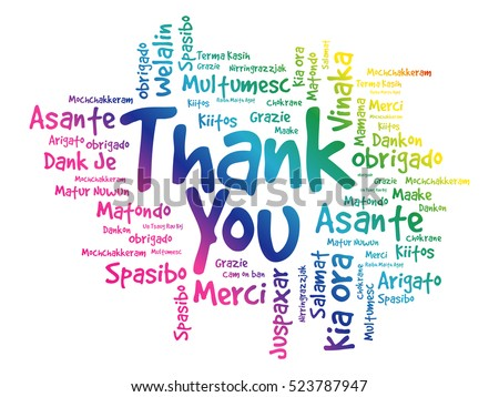 thank you word cloud concept background stock vector 523787947 rh shutterstock com thank you in other languages clipart thank you in other languages clipart