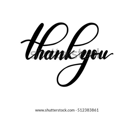 Thank you text stock images royalty free images vectors Thank you in calligraphy writing
