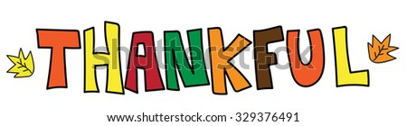 Thankful - stock vector