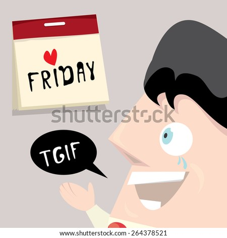 thanks god it's Friday concept. i love Friday - vector illustration  - stock vector