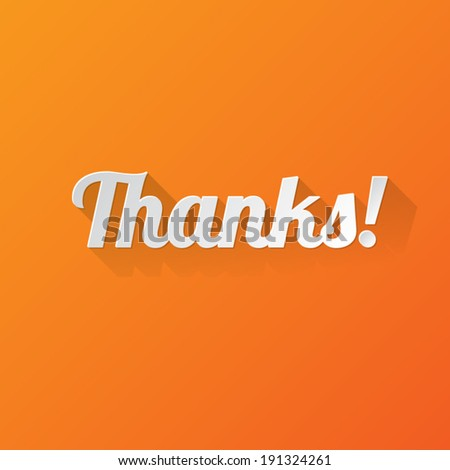Thanks Greetings Card - stock vector
