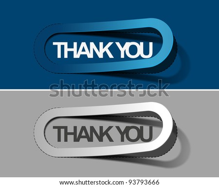 thanks you sticker. - stock vector