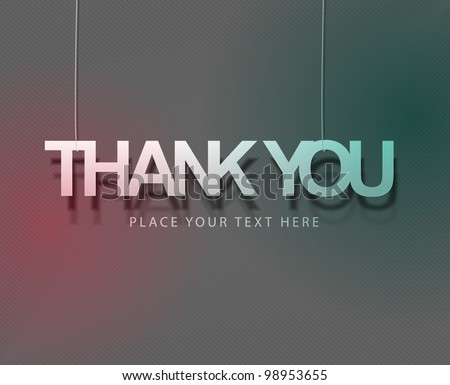 thanks you sticker design. vector illustration. - stock vector